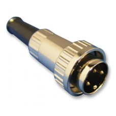 05CL5M Switchcraft straight 5 pin x 180 degrees din plug with locking collar