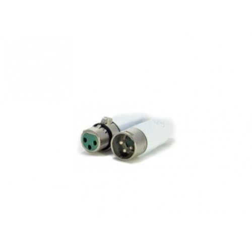 XL-9632W AAA Series 3 pin XLR male cable mount, white metal Switchcraft part number AAA3MWZ