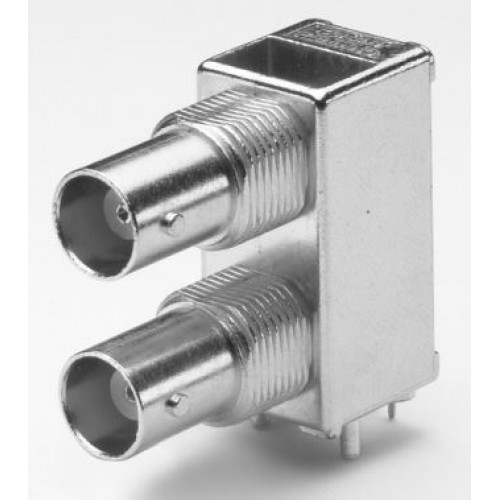 BN-2355 Dual Screened R/A BNC 50 Ohm Socket