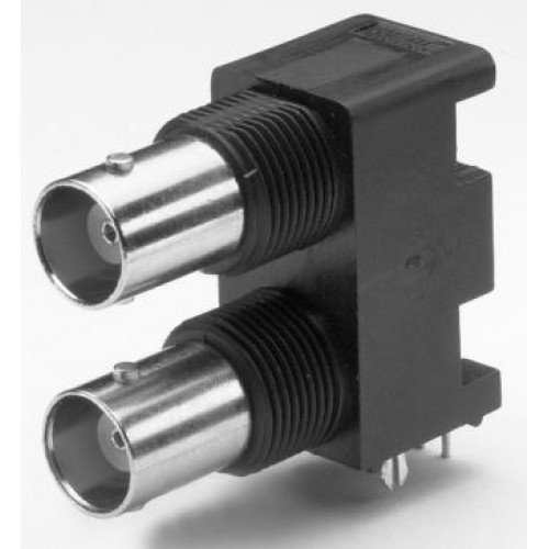 BN-2555 Dual R/A BNC 50 Ohm Socket