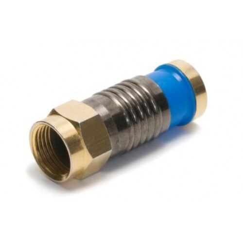 CF-1250 High quality F plug, compression fitting type with gold plated shell