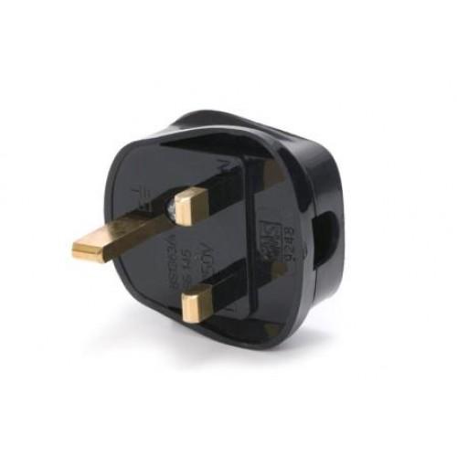 CM-5520 Black nylon UK plug, fused at 5 amp