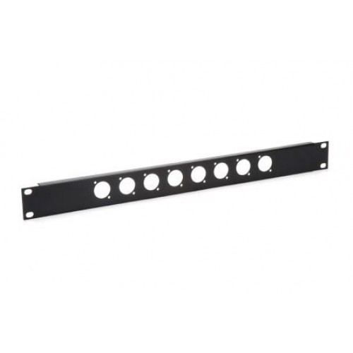 CP-3008 Low cost blank patch panel with 8 D cutouts for EH and XLR connectors.