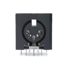 DS-5650  5 Pin x 180 degree RAPCB DIN socket.