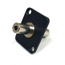 EH-1825 Switchcraft 3.5mm Stereo Jack Panel Coupler in black EH35MM2B