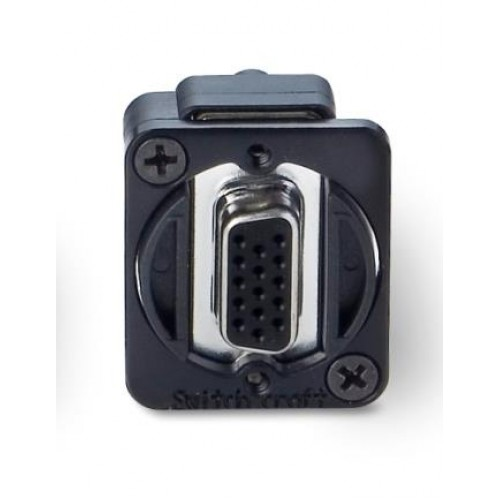 EH-1700 15 way SVGA D Socket/Socket Through Panel Coupler. Switchcraft Pat Number EHHD15FF