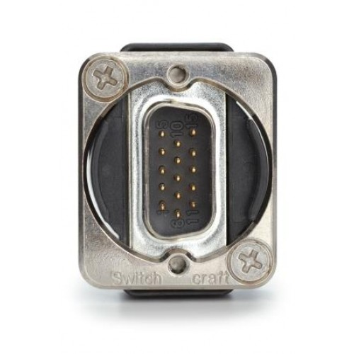 EH-1750 15 way D Male/Male Through Panel Coupler. Switchcraft Part Number EHDB15MM
