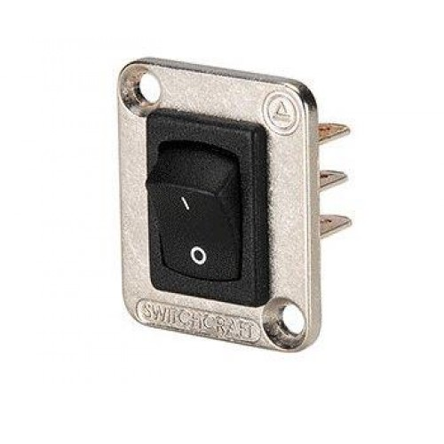 EH-5215 Switchcraft EH Series with Rocker Switch In Silver Flange. Switchcraft Part Number EHRRSL