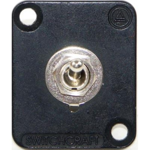 EH-5255 Switchcraft EH Series with toggle switch black nickel flange EHTSLB