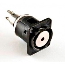 EH-1805 Stereo 3.5mm Jack Socket. Black Housed in an Industry Standard XLR Housing. Switchcraft Part Number EH35MMSSCB