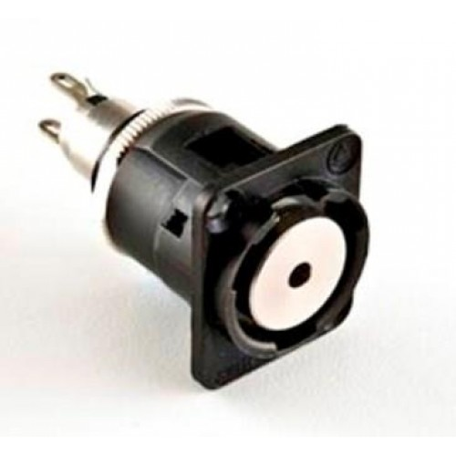 EH-1809 Switchcraft 3.5mm Mono jack socket in black shell with solder tags. EH35MMMSCB