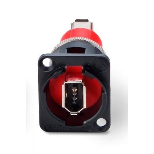 EH-1309 Firewire Socket/Skt CROSS WIRED Through Panel Coupler Black Switchcraft Part Numeber EHFWX2B