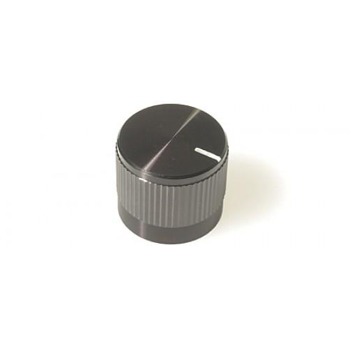 FC7225A Knob KM 20B Black / Marker Line with Knurled Aluminum shell on plastic inner