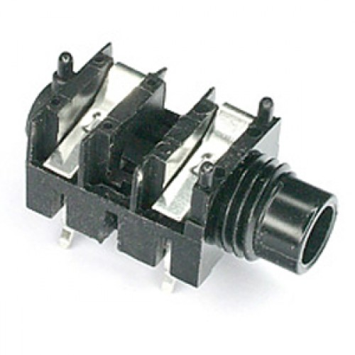 JK-1060 1/4 inch slimline jack socket mono switched for PCB mounting