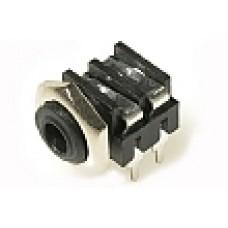 CHK JC-6250BB JS-3516 3.5mm Mono Switched Jack Socket with panel fixing nut and PCB Pins.
