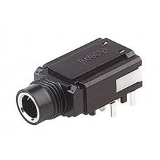 JS-5075 Jalco 6.4mm 90deg PCB Jack Socket Mono C/O