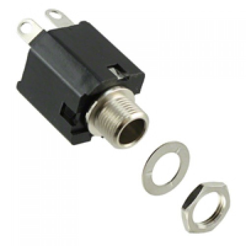 JS-647012 Professional box type mono jack socket. 6.4mm (1/4 inch). Switchcraft Part Number 112AX