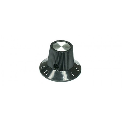 KPM-90202 Small Rotary Instrument Knob With Black Numbered Skirt 1-10