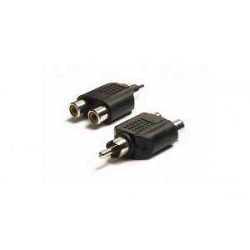 PA-4010: Phono plug to 2x phono socket