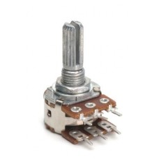 RP-1788  16mm RAPCB Mount 500K LOG dual gang Potentiometer.