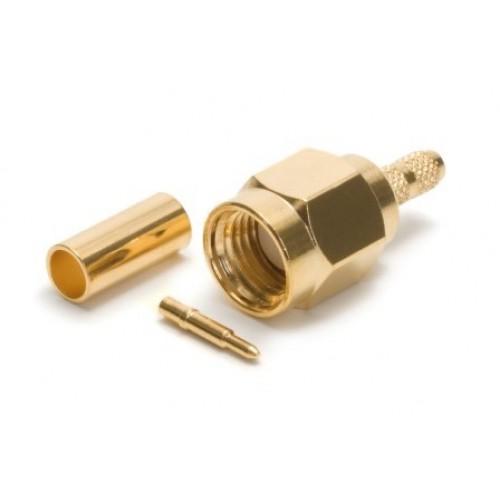 SA-2174 SMA gold plated crimp plug suitable for RG174 cable