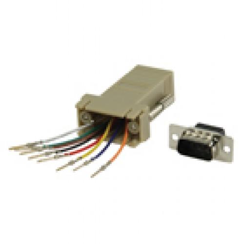 """TC-4590 9 Way """"D"""" male plug to RJ45 socket"""
