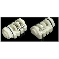 CHK  JT-218W 6.35mm Jack Socket  White body jack socket with Tip and Ring contacts only.