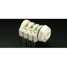 CHK JT-225W Stereo Switched Panel Mounting 6.35mm (1/4inch) jack socket with Solder Tags. White