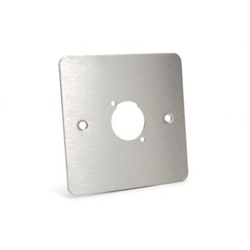 WP-1510 Flat Steel Wallplate with 1 D cutout.