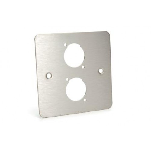 WP-1520 Flat Steel Single Wallplate with 2 D cutouts.