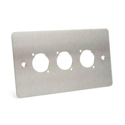 WP-1530 Flat Steel Wallplate with 3 D cutouts.