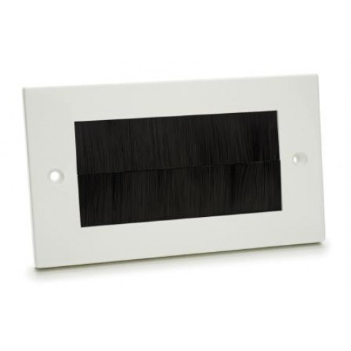 WP-4025: Double Size Plastic Wall Plate with Black Brush.