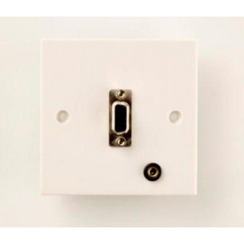 WP-7205: SVGA Wall Plate + 3.5mm Stereo Jack Socket