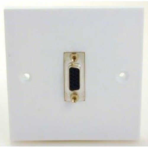 WP-7225 SVGA Plastic socket wall plate