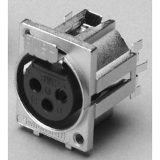 XF-8530 3 Pin PCB panel socket with ferrite disc Switchcraft part number F3FSTF