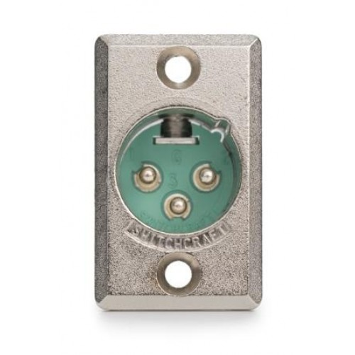 XL-8030 3-Pin Male Chassis Plug Switchcraft PartNumber D3M