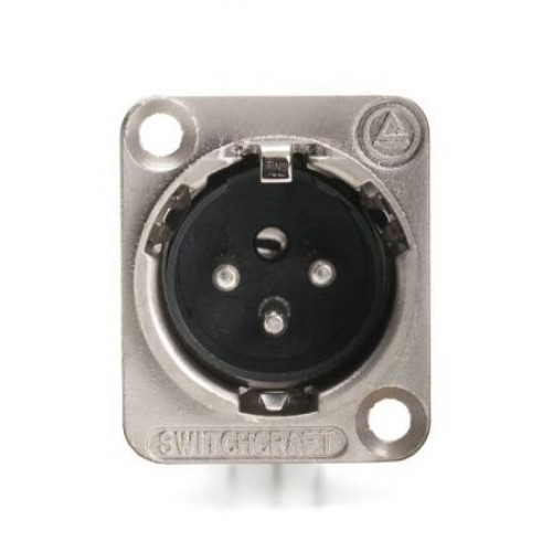 XL-8230 Switchcraft 3 Pin Right Angled PCB Mount Plug. E3MRA