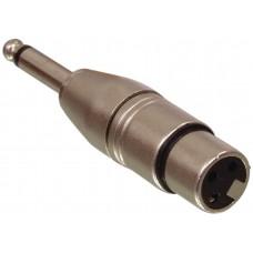 "ISX-3000 - XLR 3 Pin Female to 1/4 "" Male Mono Jack Plug Adaptor"