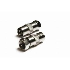 AA-1130 F plug to coax socket cable adaptor