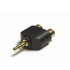 AA-3525 3.5mm Stereo Jack Plug to 2 x Phono socket adaptor