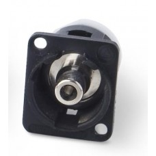 EH-1205 Phono Socket / Phono Socket through Panel Socket Coupler Black Bodied. Switchcraft Part Number EHRCAX2B