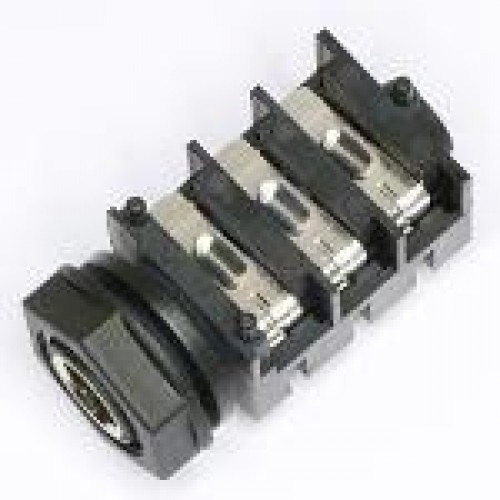 JM-1403 6.35mm Stereo Switched Jack Socket fitted with Cosmetic Metal Nose Tube