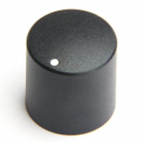 KM-2100 CHK Control Knob Black Satin Finish 6mm splined fixing with white marker dot.