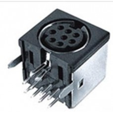 MD-2060 6 pin RAPCB Screened Mini Din Socket