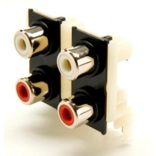 PS-4130, Quad RAPCB Nickel Plated Phono Socket