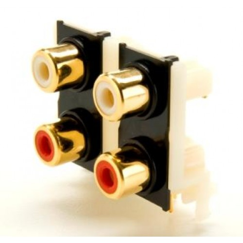 PS-4135: Quad RAPCB Gold Plated Phono Socket