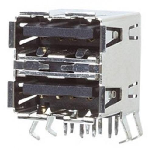 US-4020 Dual A PCB Mount Socket