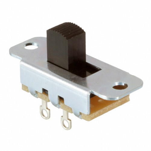 Switchcraft slide switch with solder tags SPST switching Part No 46202LR