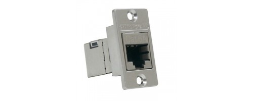 EH-1970 Switchcraft Cat 6A narrow style feedthrough panel socket Switchcraft Part No: NHRJ45D6AS