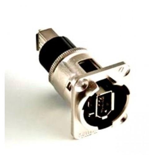EH-1300 Firewire Socket/Socket Through Panel Coupler. Switchcraft Part Number EHFW2